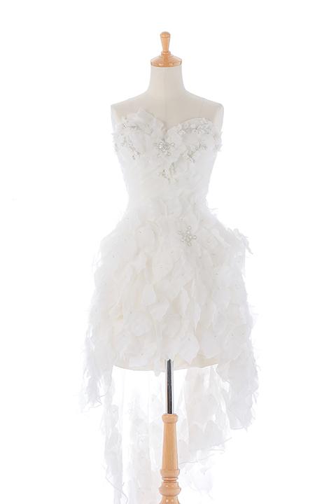 リーフモチーフウエディングドレス