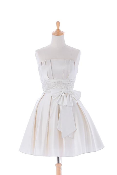 ホワイトレースミニドレス