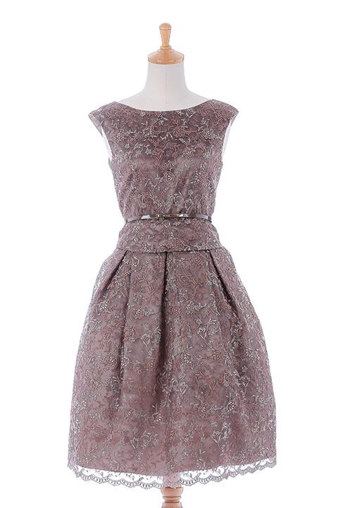 総刺繍オーガンドレス