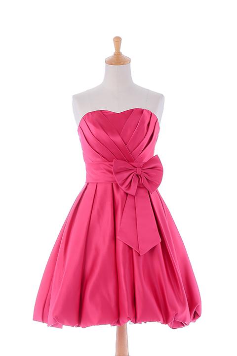 ハートカット・ウエストリボンドレス