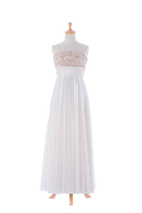 WHコードレースロングドレス