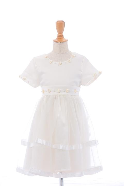 WHフレンチスリーブオーガンドレス