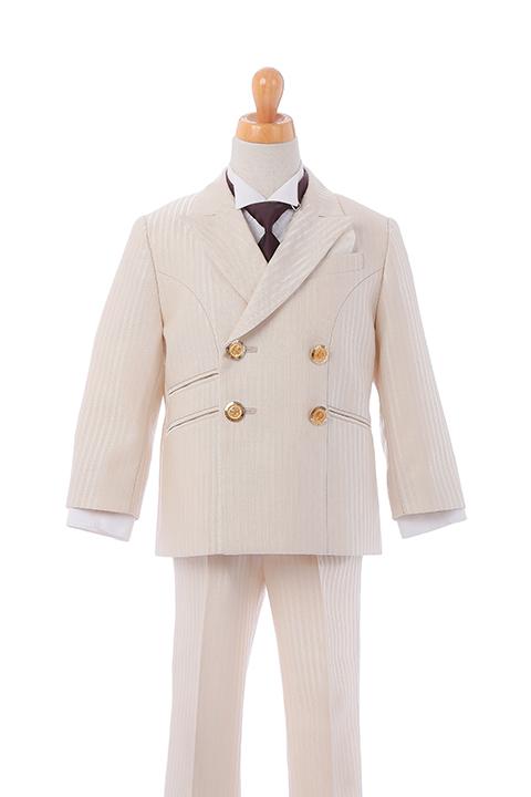 キッズ用ベージュWジャケットスーツ