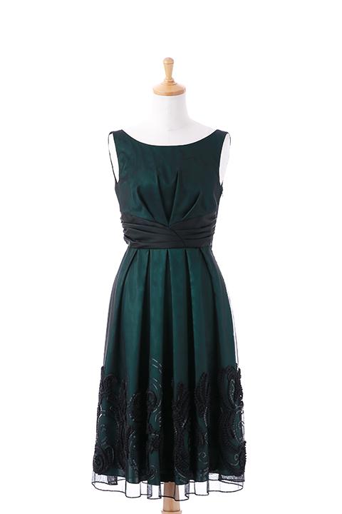 スパンテープフラワーモチーフドレス