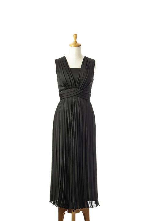 ロングプリーツドレス